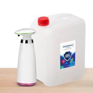 Sady Dávkovač Helpmation + 5L alkoholová dezinfekce