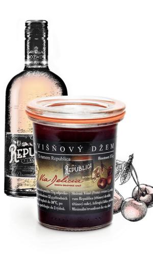 Višňový džem s rumem Republica