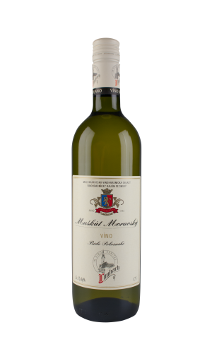 Muškát moravský bílé víno polosuché 0,75 l, Premium