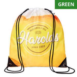 Batoh ke stažení Basic Green, plnobarevně potisknutelný