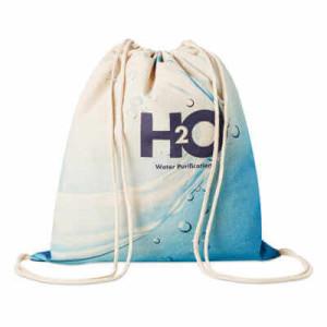 Bavlněný batoh se šňůrkami Cotton, plnobarevně potisknutelný