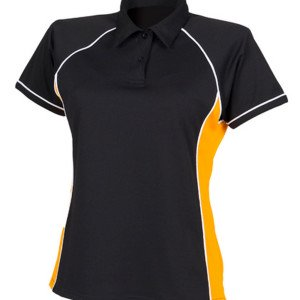 FH371 Ladies Piped Performance Polo