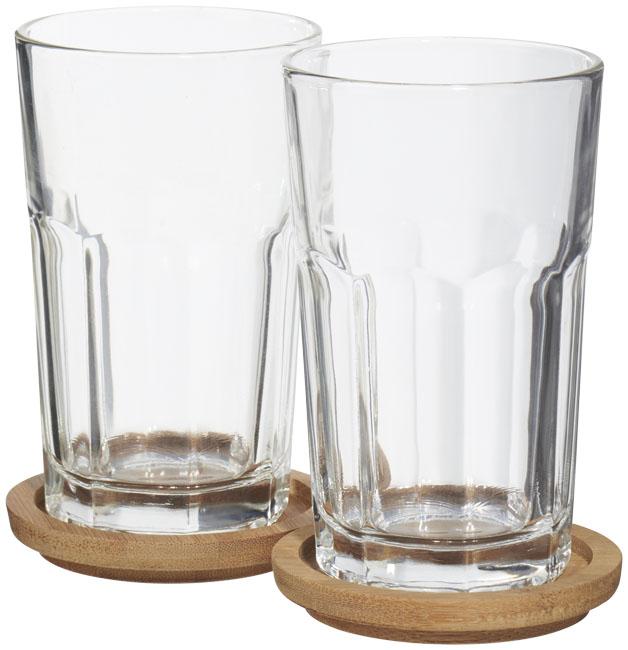 Dvoudílná sada sklenic s táckem Linden