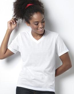 Dámské tričko Subli Plus V-Neck
