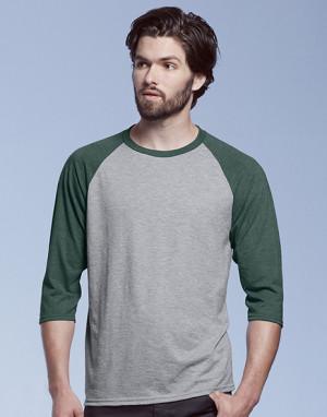 obrazok Tričko dospělý Tri-Blend 3/4 rukáv raglan - Reklamnepredmety
