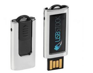 USB klíč PDslim-40 - Pryskyřičná nálepka