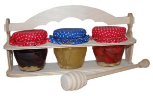 Sada 3 druhů sušeného ovoce v medu v stojánku