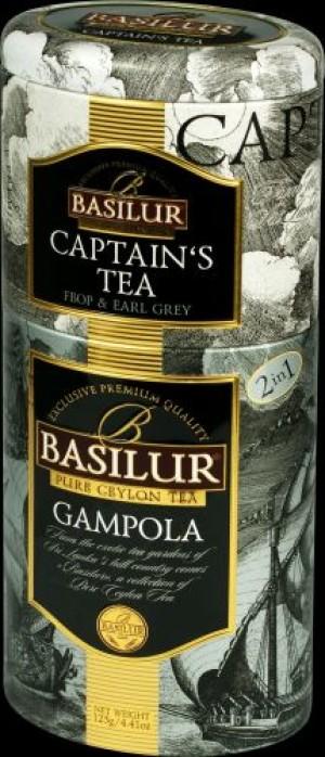 Čierny čaj, Captain´s + Gampola, 2 druhy, 50g+75g