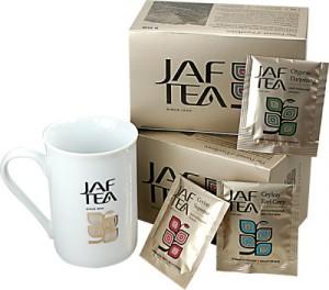 TEA SET kolekcia čiernych čajov 50ks a keramická šálka