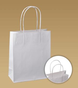 Tašky s krouceným uchem z hladkého papíru