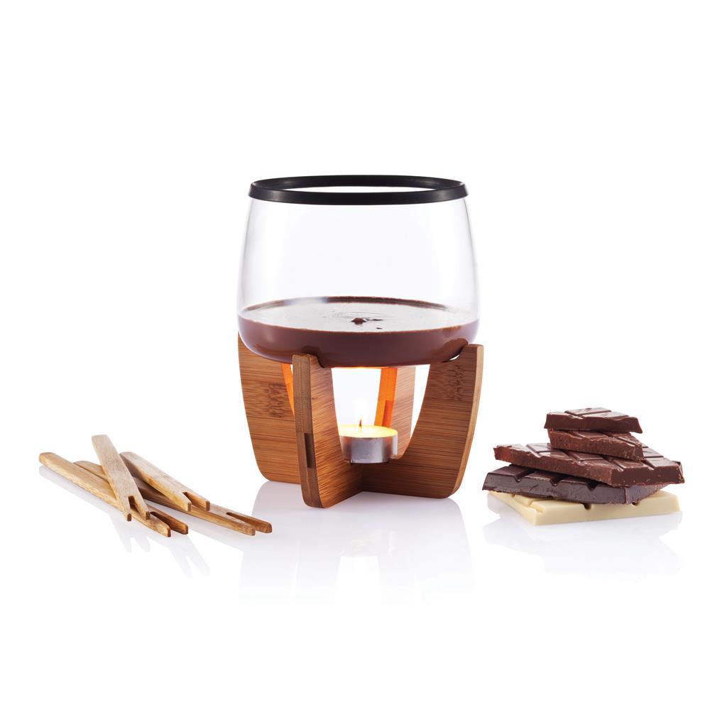Cocoa chocolate fondue set sada na čokoládové fondue