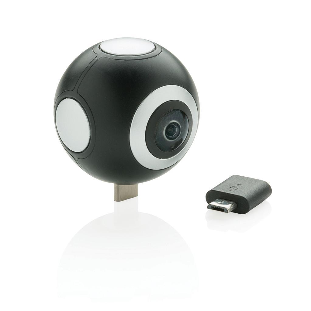 360° kamera se dvěma objektivy