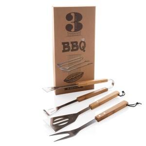 3dílná sada bambusových nástrojů na grilování