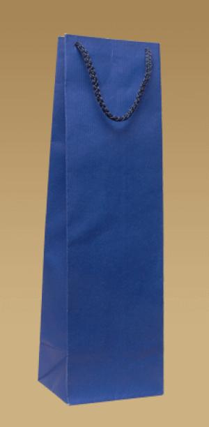 Ekologické papírové tašky na víno s textilním uchem