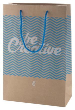 CreaShop M stredná papírová nákupní taška na zakázku