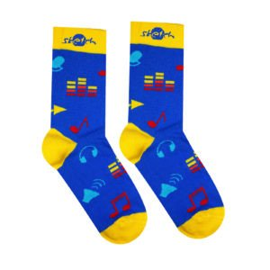 obrazok Ponožky barevné hudební - Reklamnepredmety