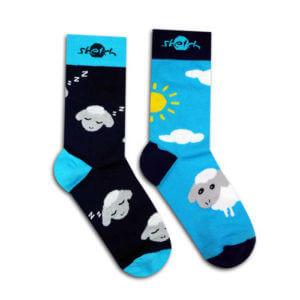 Ponožky barevné s ovečkou