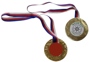 Medaila s etiketou