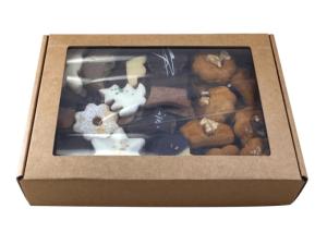 Máslový perník s ořechem, kartonová krabička