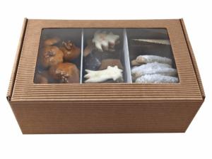Máslové čajové pečivo + perníky, poměr 1: 1, kartonová krabička kraft