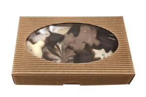Máslové čajové pečivo / perníky, grilážovérezy a vanilkové rohlíčky, kartonová krabička kraft