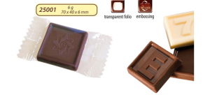 Reklamní čokoláda 6g s logem v čokoládě