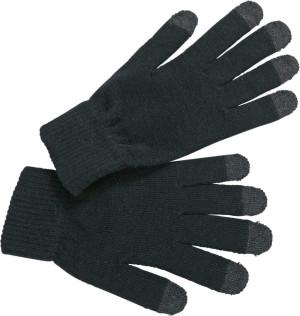 Pletené rukavice pro dotykové displeje