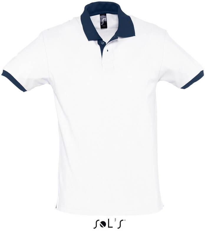 Prince Dvoubarevné piqué polo tričko
