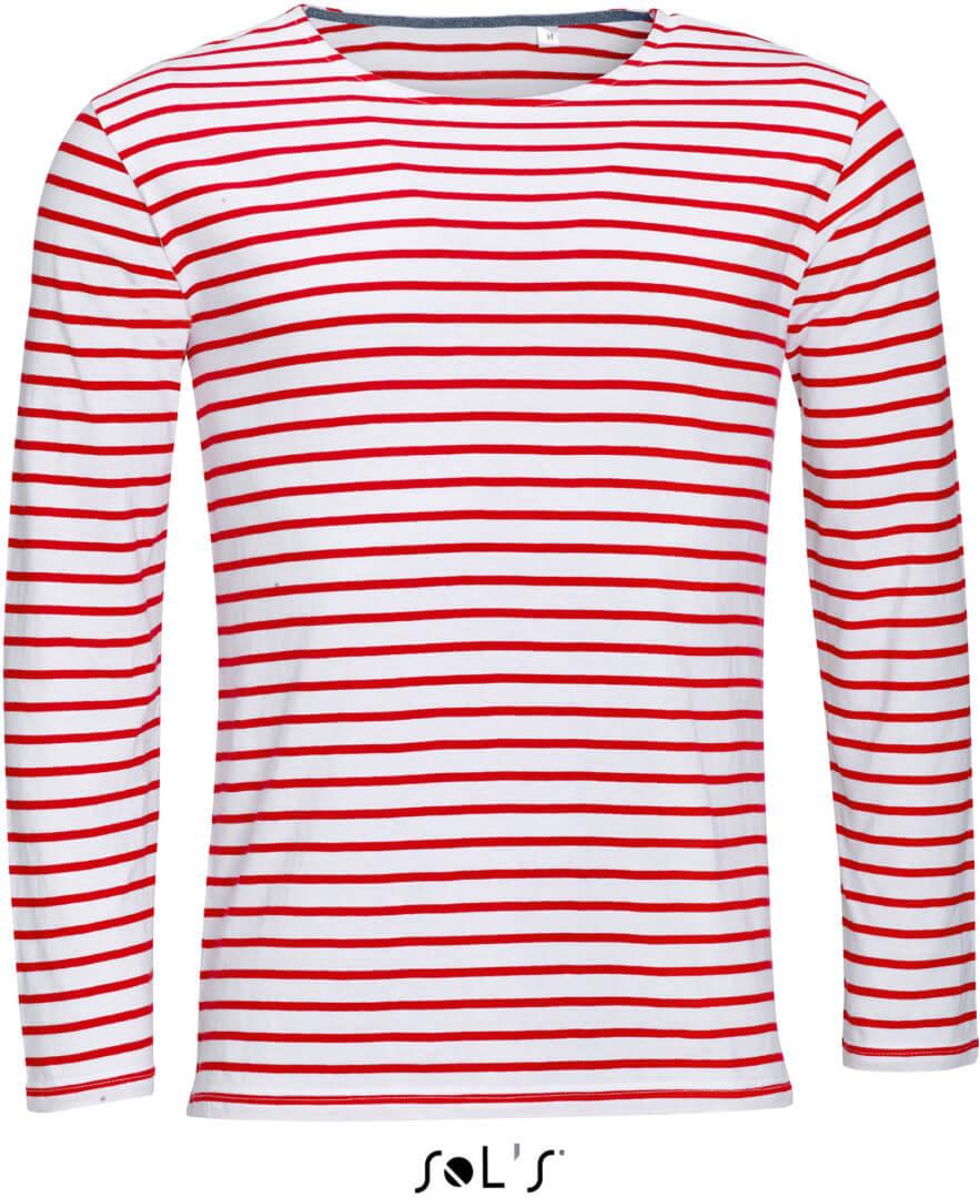 Pánské pruhované tričko s dlouhým rukávem