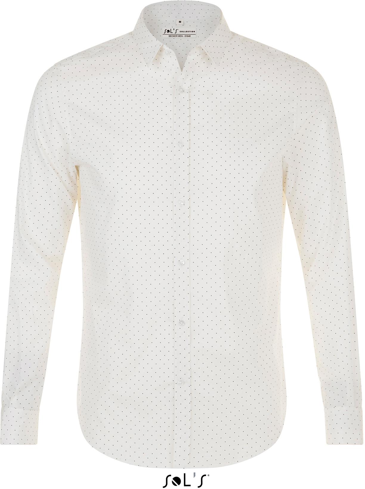 Pánská popelinová košile s dlouhým rukávem