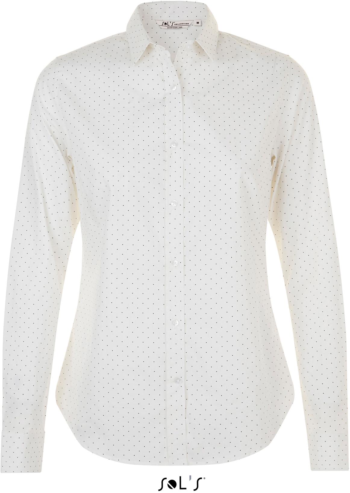 Dámská popelinová košile s dlouhým rukávem
