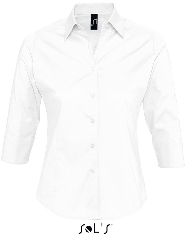 Effect Dámská elastická košile s 3/4 rukávy