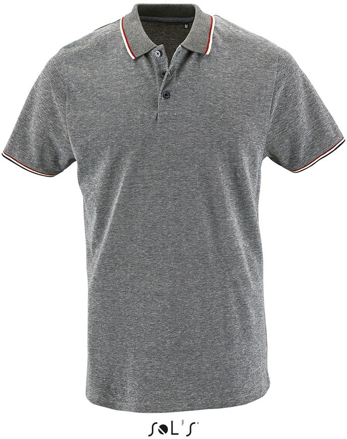 Pánské tričko piqué Polo melír