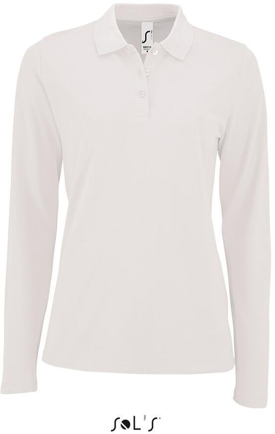 Dámské Piqué Polo tričko dlouhý rukáv