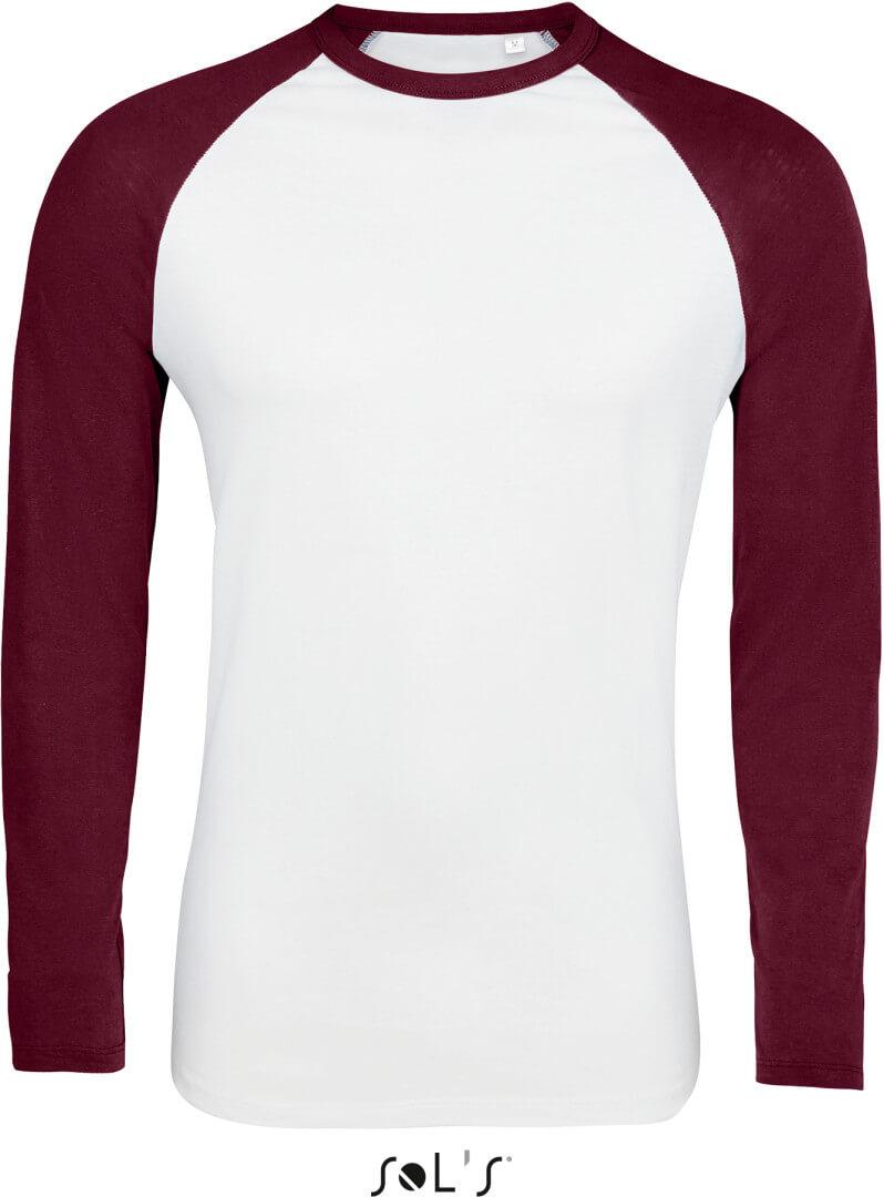 Pánské raglánové tričko s dlouhým rukávem