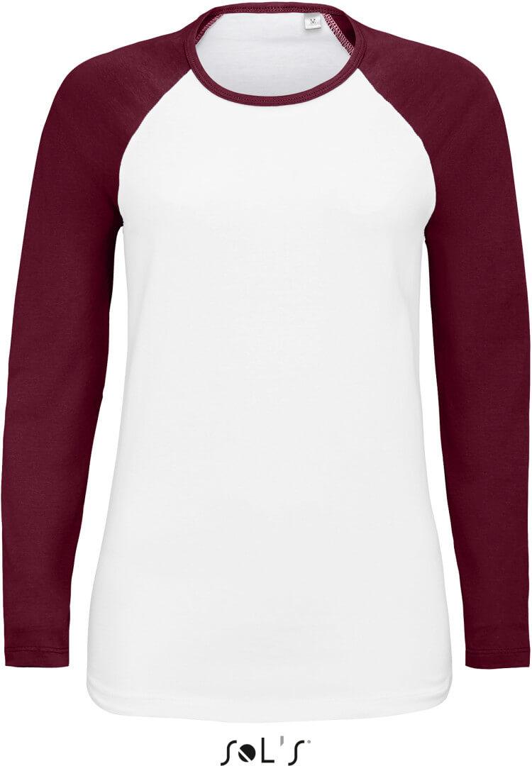 Dámské raglánové tričko s dlouhým rukávem