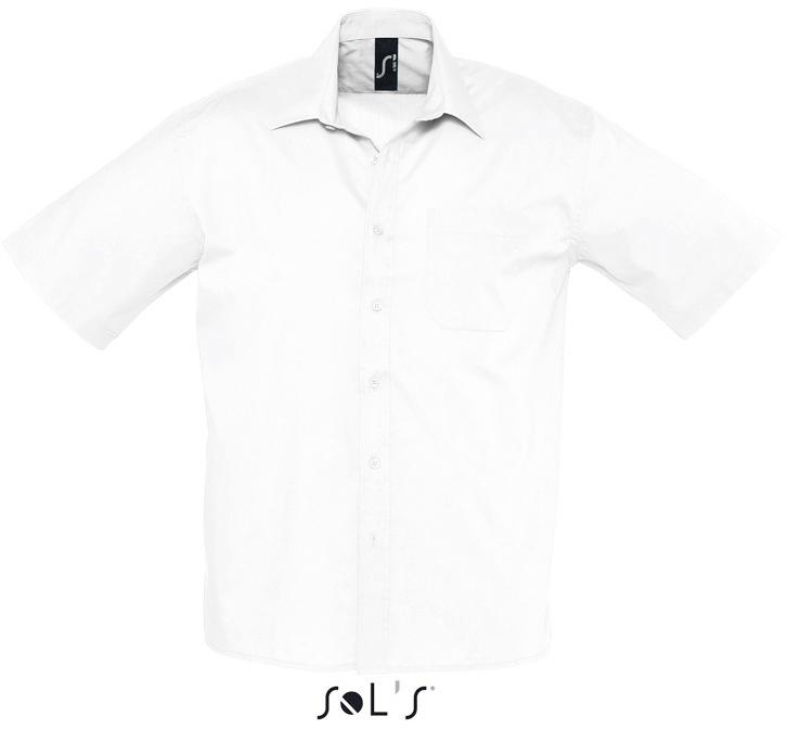 Bristol Pánská popelínová košile s krátkým rukávem