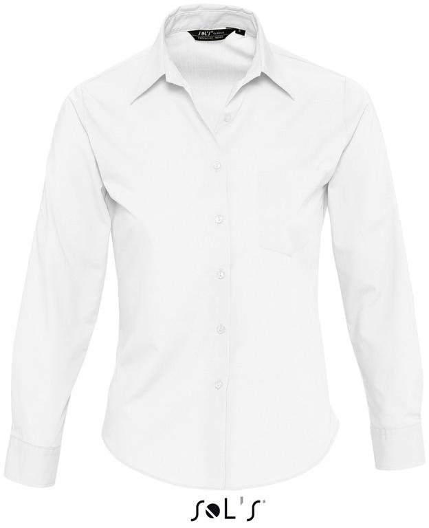 Executive Dámská popelínová košile s dlouhým rukávem