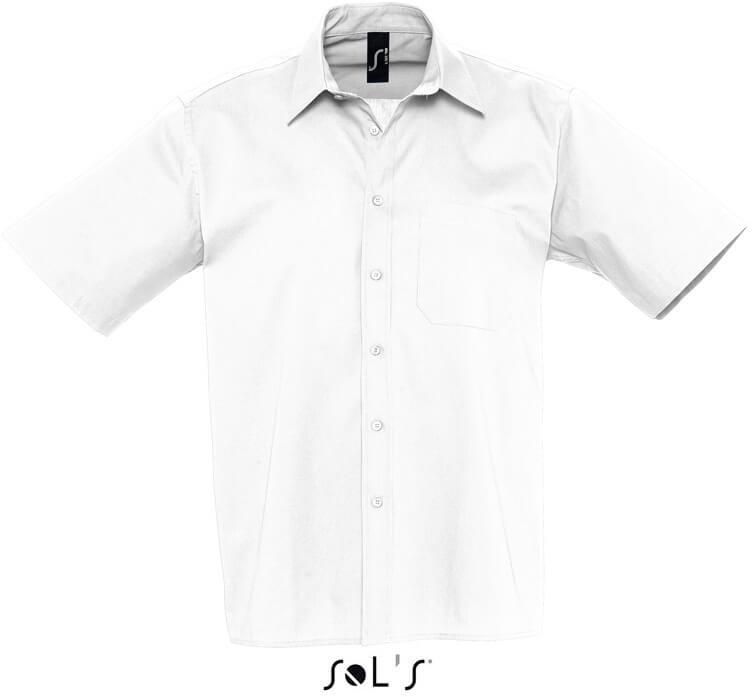 Pánská popelínová košile s krátkým rukávem