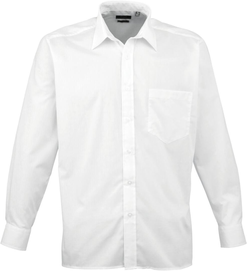 Popelínová košile s dlouhým rukávem