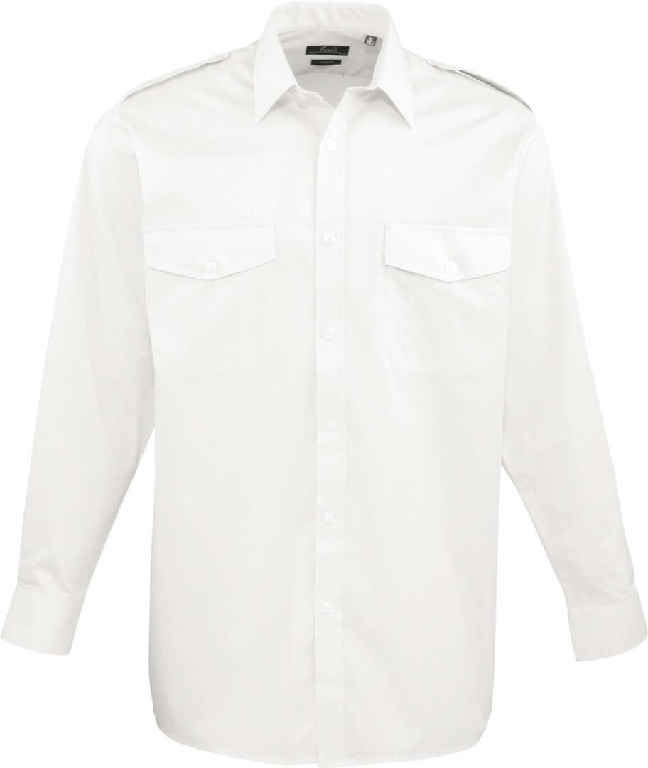Pilotní košile s dlouhým rukávem