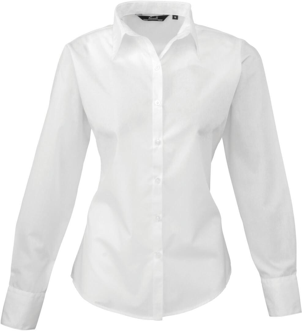 Dámská popelínová košile s dlouhým rukávem