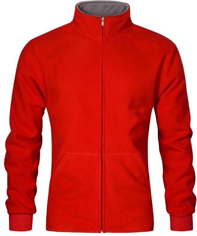 Pánská dvojitá fleece bunda