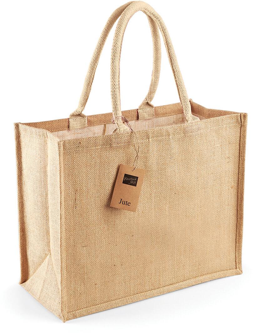 W407 Jutová nákupní taška