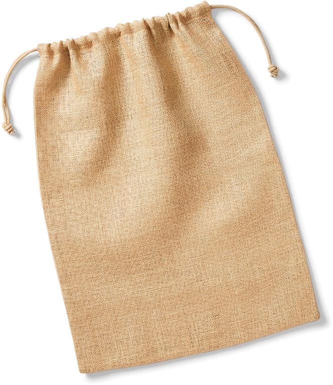 W415 Jutová taška se šňůrkou