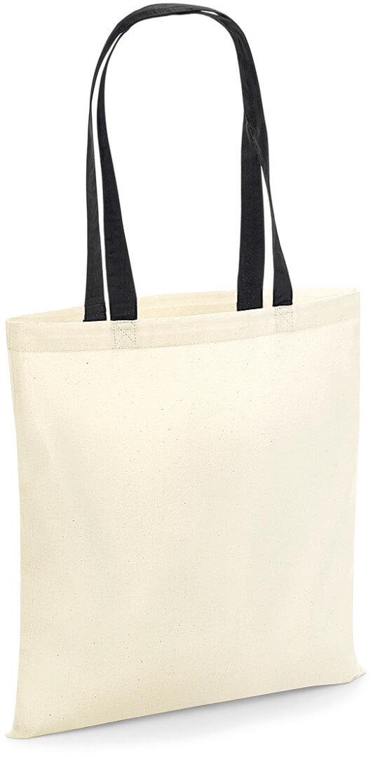 W101C Bavlněná taška s kontrastními uchy