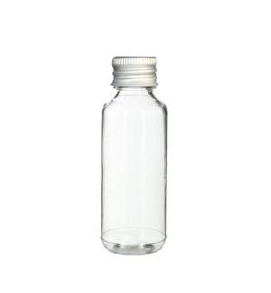 Průsvitná láhev s hliníkovým víčkem 30 ml