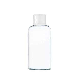 Transparentní láhev s bílým uzávěrem 80 ml