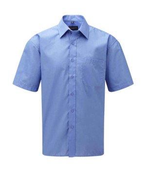 Popelínová košile s krátkým rukávem a kapsou