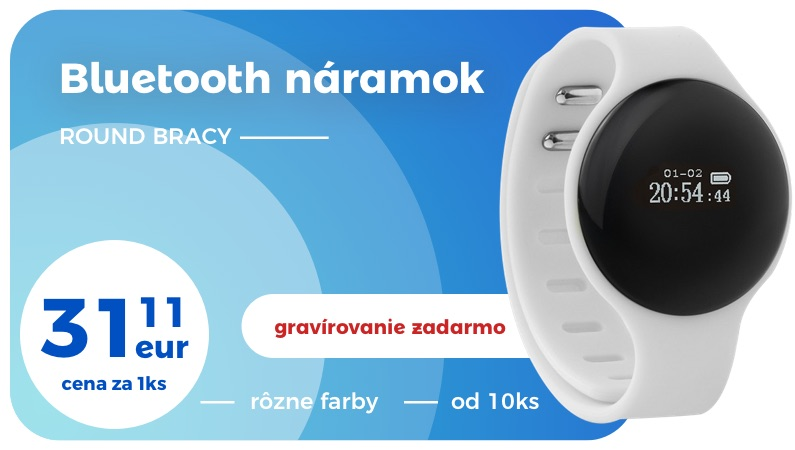 round bracy bluetooth náramok